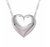 Traditional Sterling Silver Heart Cremation Necklace