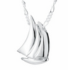 Sailboat Cremation Urn Necklace
