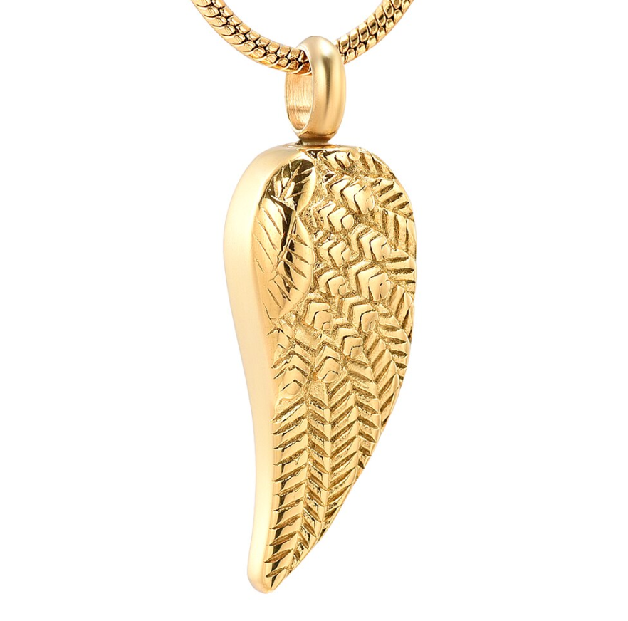 Blessed Angel Wing Cremation Necklace