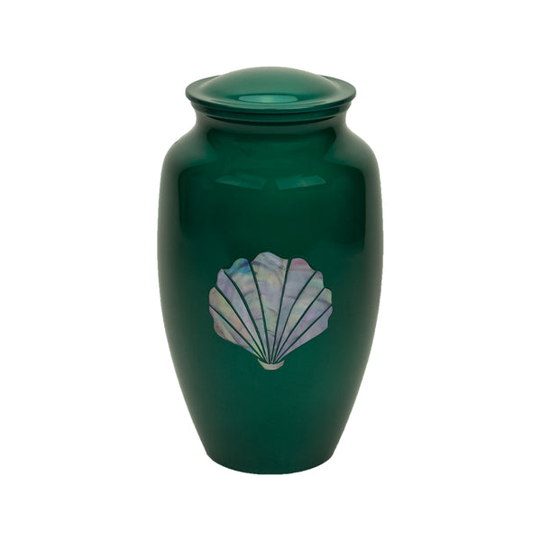 Green Shell Mother of Pearl Urn