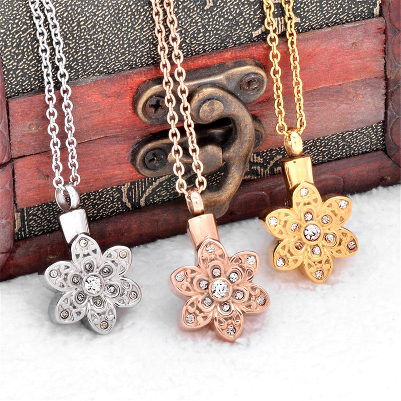 Sunflower Urn Necklace | Cremation Necklaces for Ashes ...