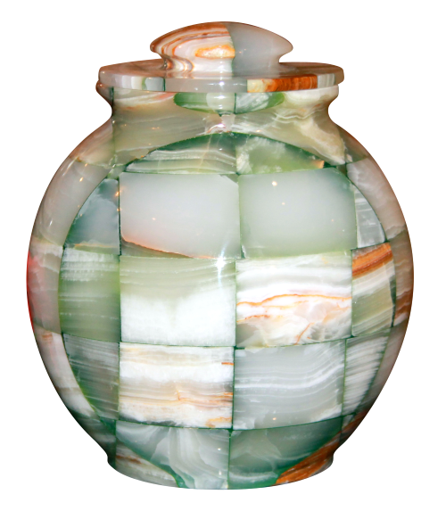 Green Triumph Onyx Natural Marble Urn