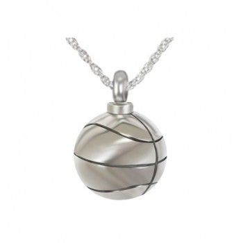 Basketball Stainless Steel Cremation Necklace