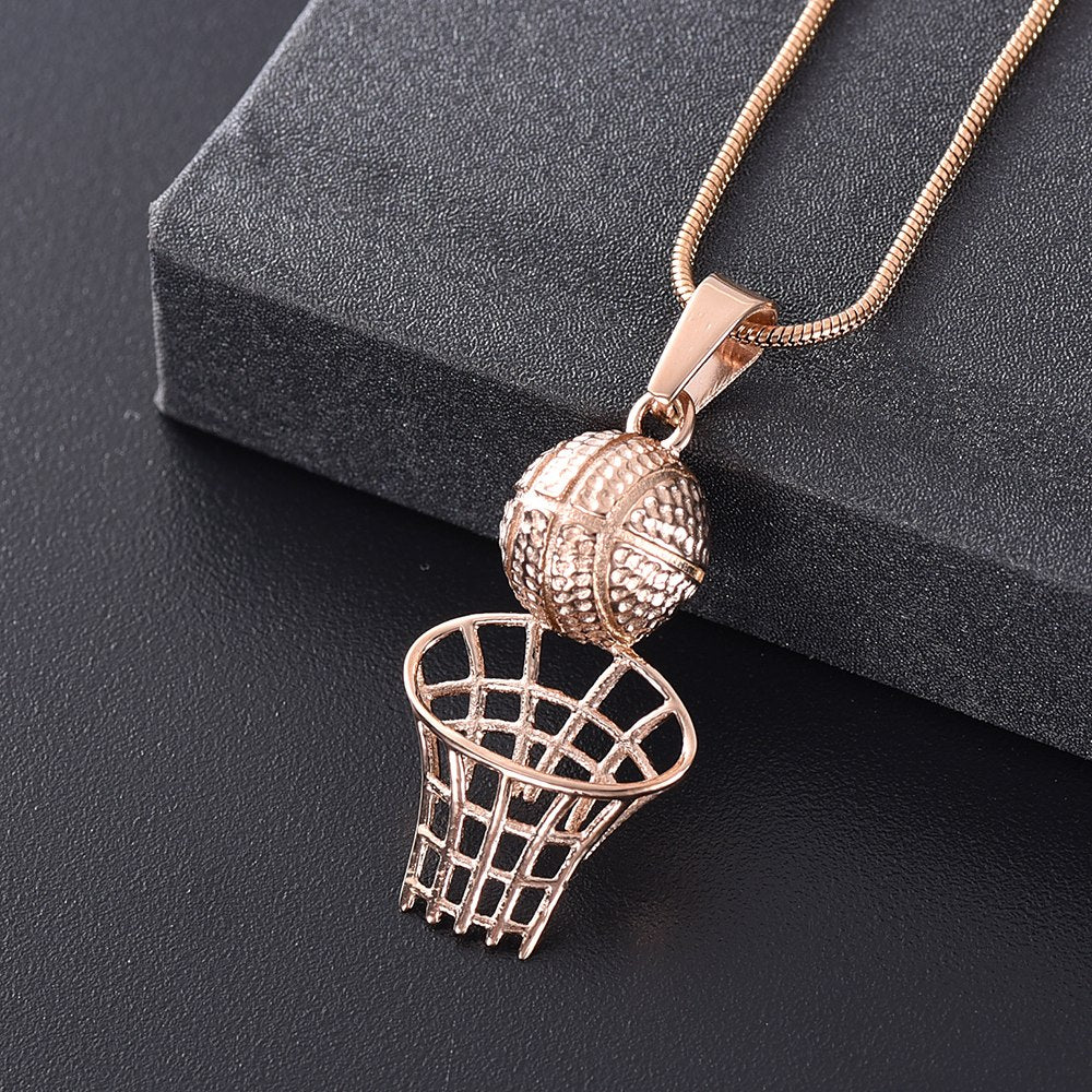 Basketball Cremation Urn Necklace