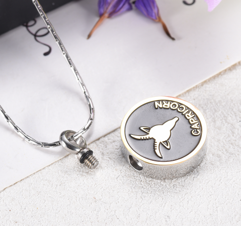 Capricorn Cremation Necklace