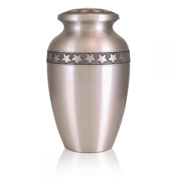 Star Bright Pewter Urn