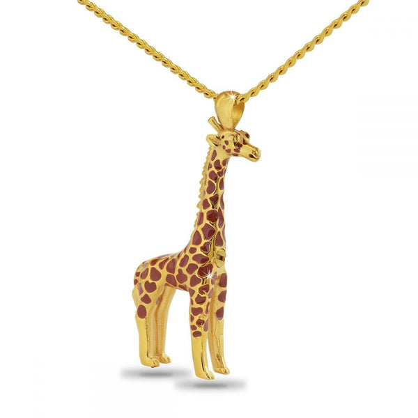 Giraffe Cremation Necklace