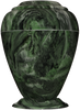 Green Acosta Georgian Cultured Marble Cremation Urn