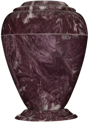 Merlot Georgian Cultured Marble Cremation Urn