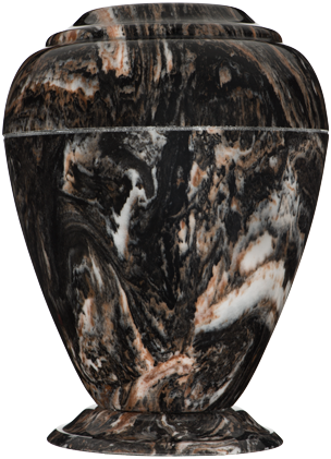 Mission Black Georgian Cultured Marble Cremation Urn