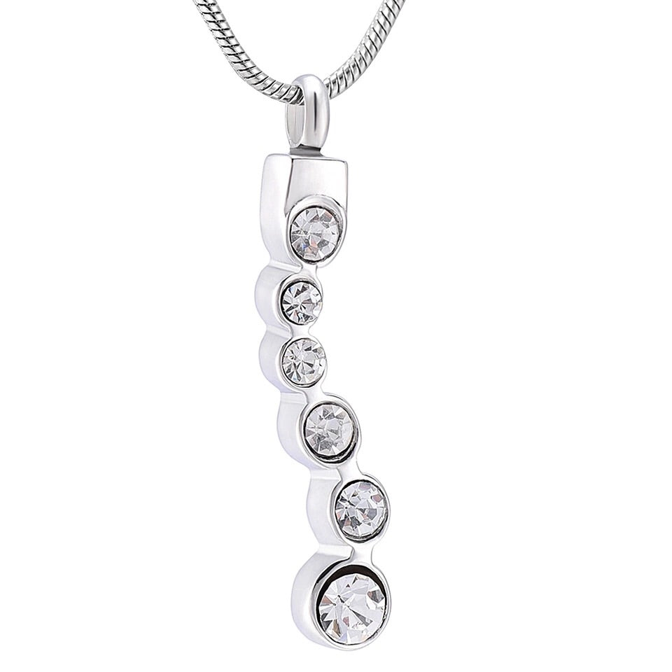 Inline Crystal Cremation Necklace