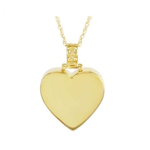 Impeccable 14K Gold Companion Heart Cremation Pendant