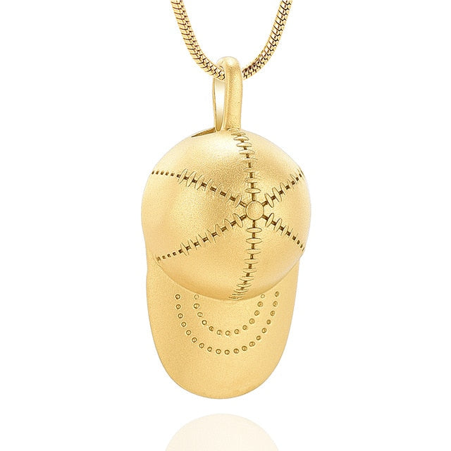 Baseball Cap Cremation Urn Necklace