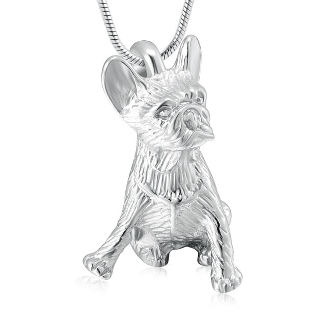 Tiny Dog Cremation Urn Necklace