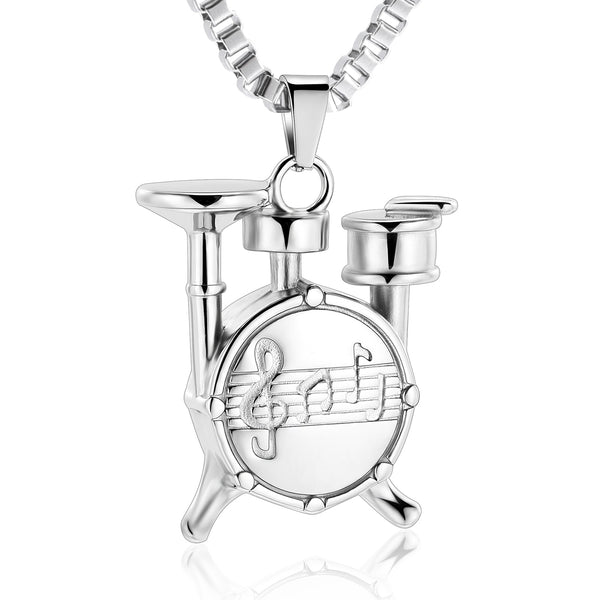 Eternal Drummer Cremation Urn Necklace