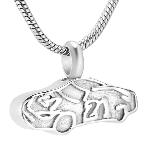 Race Car Cremation Urn Necklace