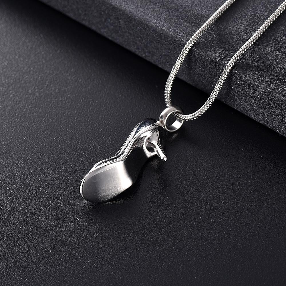 High Heel Cremation Necklace