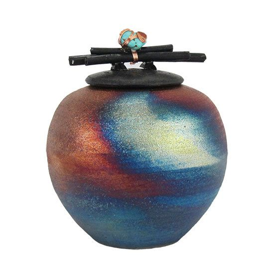 Earth's Memorial Keepsake Raku Urn