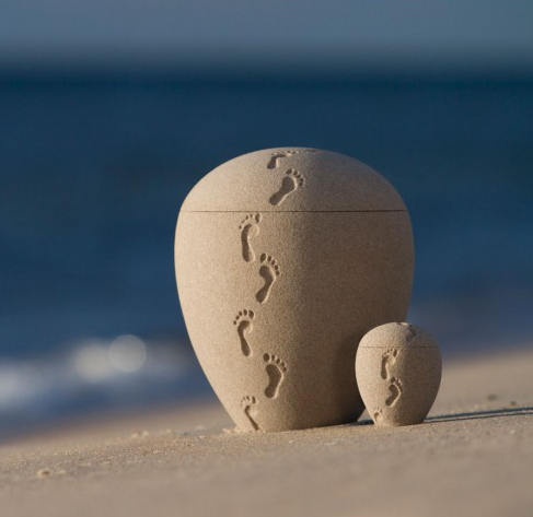 Footprints In The Sand Cremation Urn