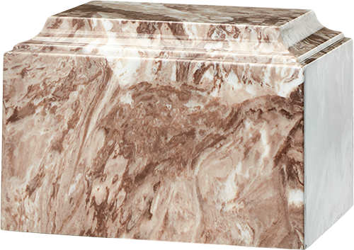 Cafe Brown Tuscany Cultured Marble Cremation Urn