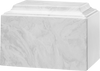 Carrera White Tuscany Cultured Marble Cremation Urn