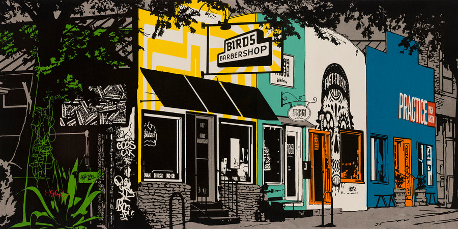 A screen print of Austin's Eastside.