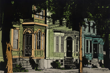 Historic Halifax screenprint of Tower Rd in the South End by artist Michelle SaintOnge