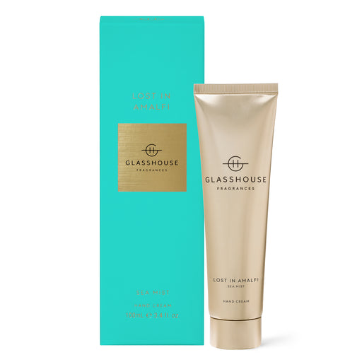 GLASSHOUSE FRAGRANCES 100ML HAND CREAM - LOST IN AMALFI
