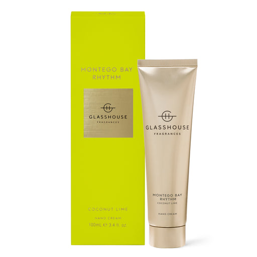 GLASSHOUSE FRAGRANCES 100ML HAND CREAM - MONTEGO BAY RHYTHM