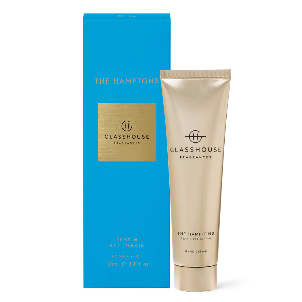 GLASSHOUSE FRAGRANCES 100ML HAND CREAM - THE HAMPTONS