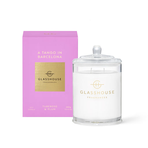 GLASSHOUSE FRAGRANCES 380G SOY CANDLE - A TANGO IN BARCELONA
