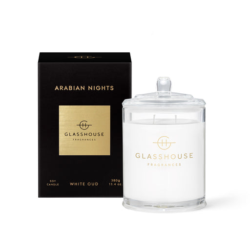 GLASSHOUSE FRAGRANCES 380G SOY CANDLE - ARABIAN NIGHTS