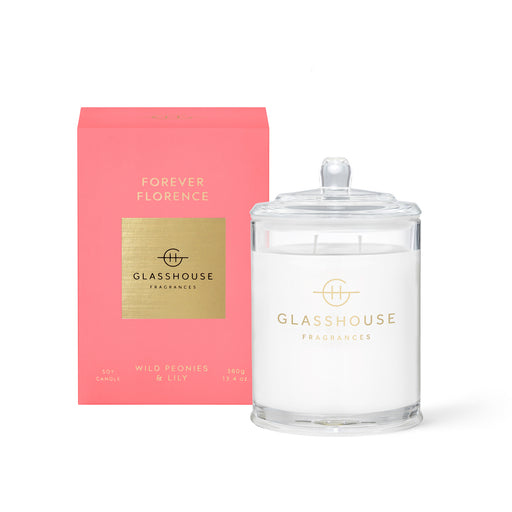 GLASSHOUSE FRAGRANCES 380G SOY CANDLE - FOREVER FLORENCE