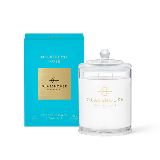 GLASSHOUSE FRAGRANCES 380G SOY CANDLE - MELBOURNE MUSE