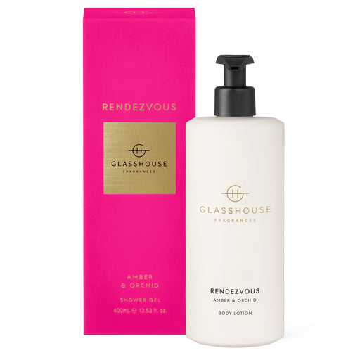 GLASSHOUSE FRAGRANCES 400ML BODY LOTION - RENDEZVOUS