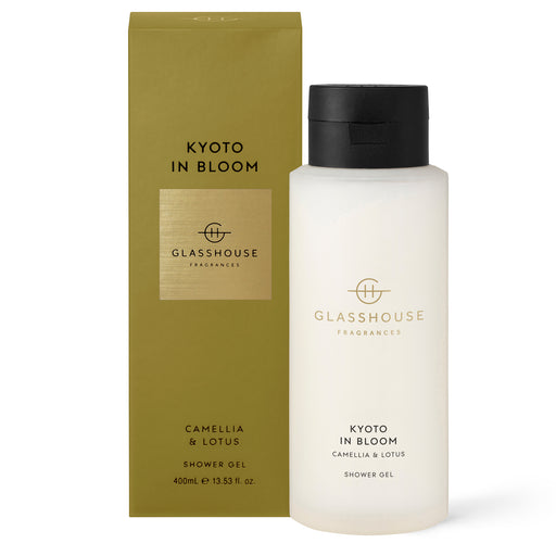 GLASSHOUSE FRAGRANCES 400ML SHOWER GEL - KYOTO IN BLOOM