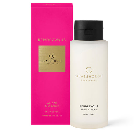 GLASSHOUSE FRAGRANCES 400ML SHOWER GEL - RENDEZVOUS