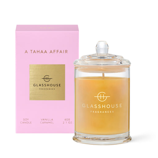 GLASSHOUSE FRAGRANCES 60G SOY CANDLE - A TAHAA AFFAIR