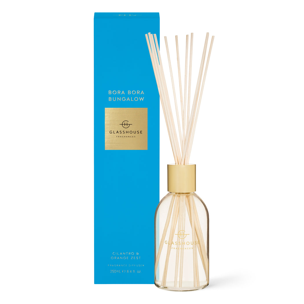 GLASSHOUSE FRAGRANCES 250ML FRAGRANCE DIFFUSER - BORA BORA BUNGALOW