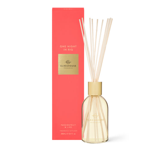 GLASSHOUSE FRAGRANCES 250ML FRAGRANCE DIFFUSER - ONE NIGHT IN RIO