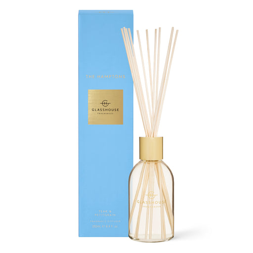 GLASSHOUSE FRAGRANCES 250ML FRAGRANCE DIFFUSER - THE HAMPTONS