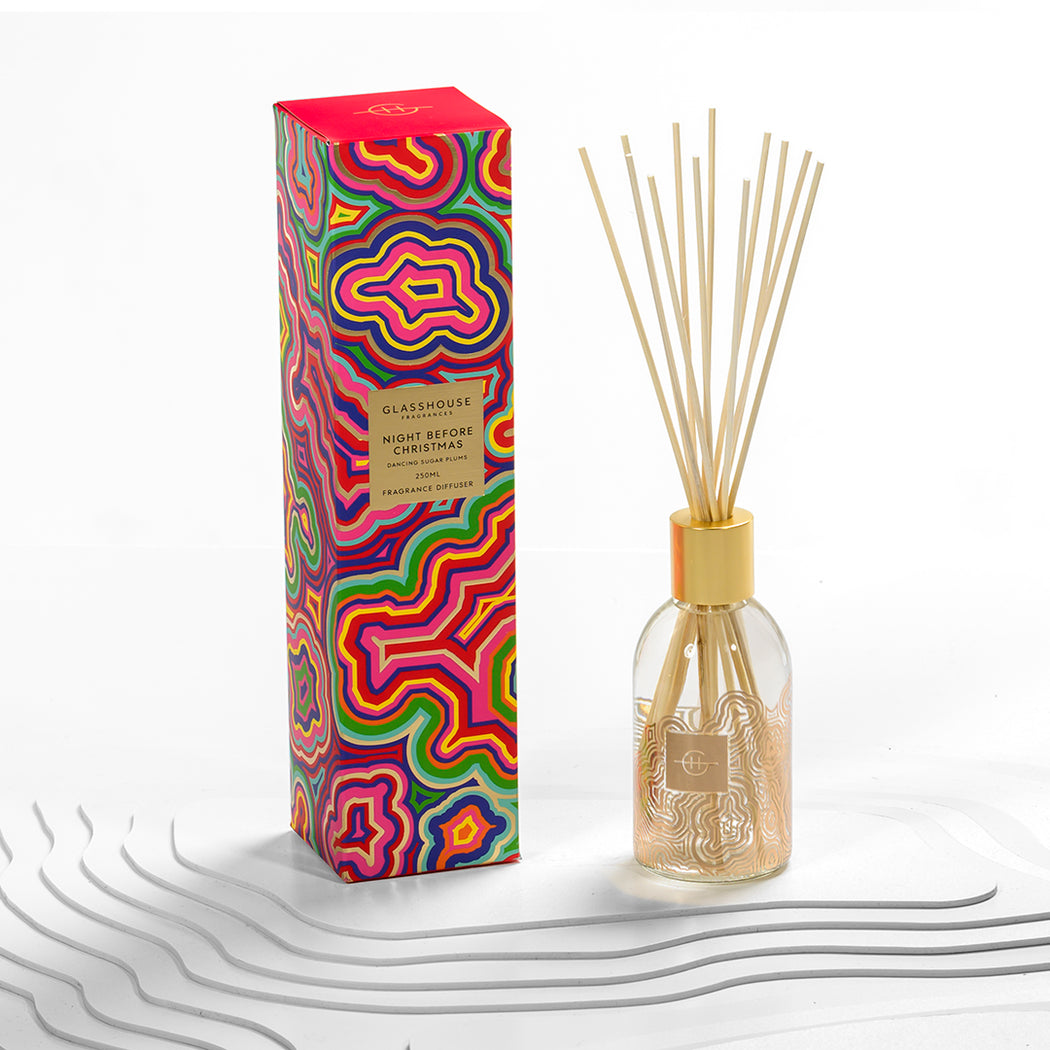 GLASSHOUSE FRAGRANCES DIFFUSER 250ML - NIGHT BEFORE CHRISTMAS (LIMITED EDITION)