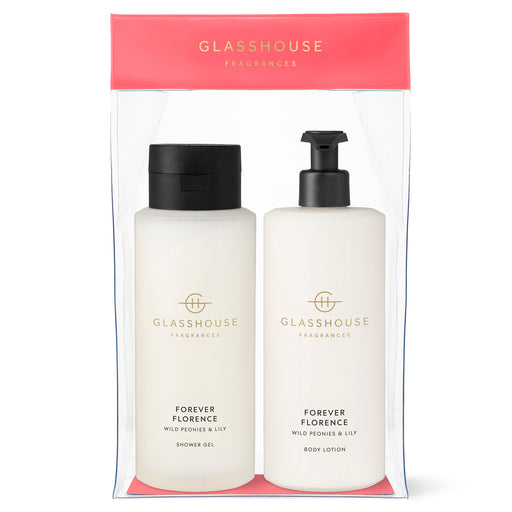 GLASSHOUSE FRAGRANCES BODY DUO 800ML - FOREVER FLORENCE
