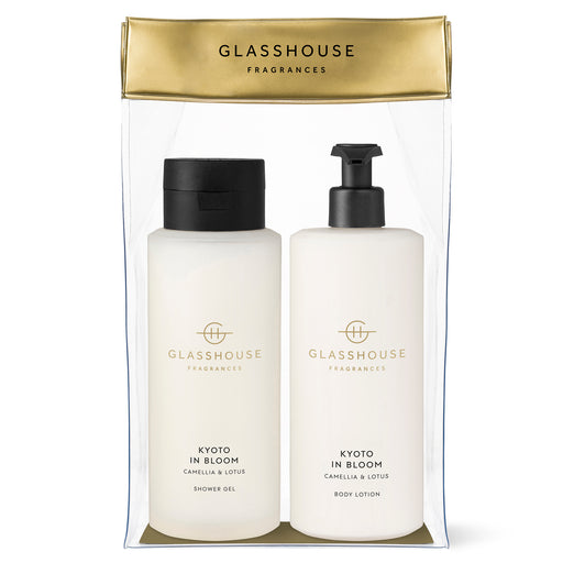 GLASSHOUSE FRAGRANCES BODY DUO 800ML - KYOTO IN BLOOM