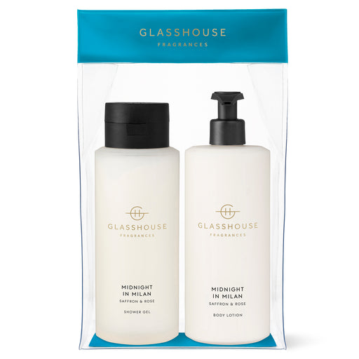 GLASSHOUSE FRAGRANCES BODY DUO 800ML - MIDNIGHT IN MILAN
