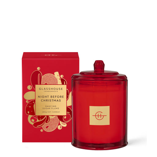 GLASSHOUSE FRAGRANCES SOY CANDLE 380G - NIGHT BEFORE CHRISTMAS (LIMITED EDITION)