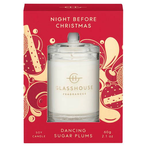 GLASSHOUSE FRAGRANCES CANDLE GIFT CARD 60G - NIGHT BEFORE CHRISTMAS (LIMITED EDITION)