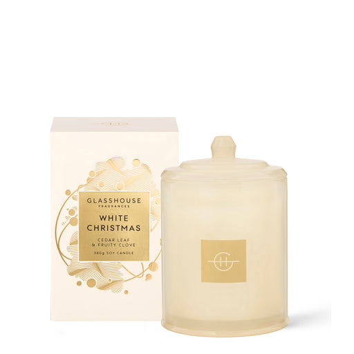 GLASSHOUSE FRAGRANCES SOY CANDLE 380G - WHTIE CHRISTMAS (LIMITED EDITION)