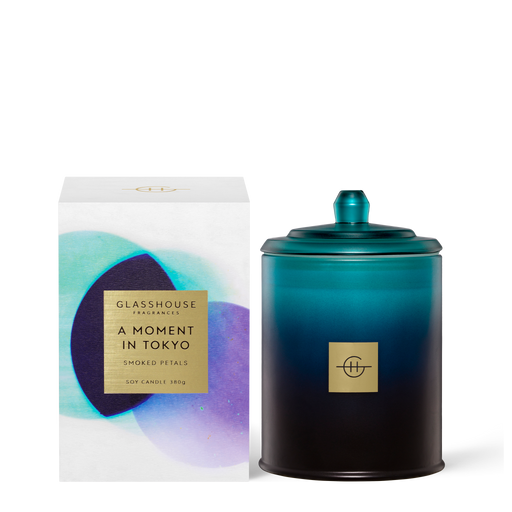 GLASSHOUSE FRAGRANCES 380G SOY CANDLE - A MOMENT IN TOKYO (LIMITED EDITION)