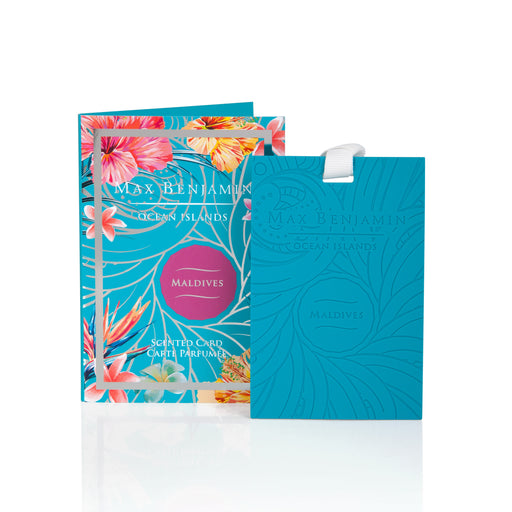 MAX BENJAMIN OCEAN ISLANDS COLLECTION SCENTED CARD - MALDIVES